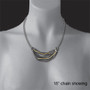 Barb's Wave Necklace on Model, Modern Art Jewelry by Lori Gottlieb