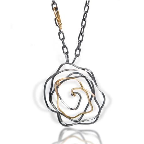 Whirlpool Necklace, Handmade Modern Art Jewelry by Lori Gottlieb