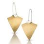 Bimetal Kite Earrings, Modern Art Jewelry by Estelle Vernon