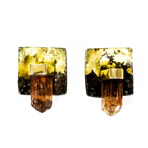 Tresor Earrings, Handmade Art Jewelry by Deborah Vivas