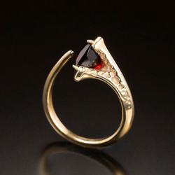 Gold Infinity Hope Ring, Modern Art Jewelry by Aleksandra Vali