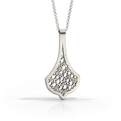 Sevilla Chandelier Pendant handmade by Contemporary Jewelry Artist Belle Brooke Barer | Sterling Silver and Diamonds
