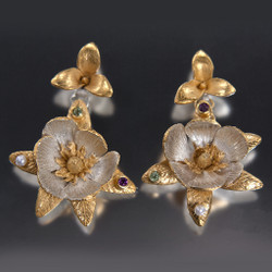 Carol Salisbury's One-of-a-Kind Magnolia Earrings | Handmade Designer Jewelry