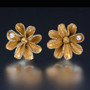 Carol Salisbury's One-of-a-Kind Daisy Earrings with Pearls | Handmade Designer Jewelry