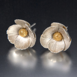 Carol Salisbury's Icelandic Poppy Earrings | 24k Gold Vermeil
