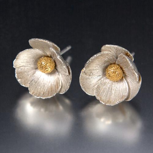 Carol Salisbury's Icelandic Poppy Earrings | 24k Gold Vermeil