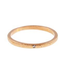 Anit Dodhia's Equinox White Diamond Ring   18k Yellow Gold and 0.005ct Diamond   Maya Collection