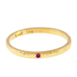 Anit Dodhia's Equinox Pink Sapphire  Ring | 18k Yellow Gold and 0.006ct Pink Sapphire | Maya Collection