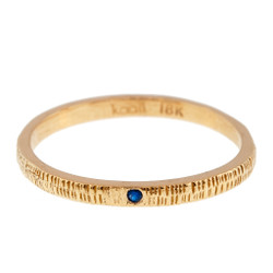 Anit Dodhia's Equinox Royal Blue Sapphire Ring   18k Yellow Gold and 0.006ct Blue Sapphire   Maya Collection