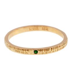 Anit Dodhia's Equinox Spring Green Tsavorite Ring   18k Yellow Gold and 0.09ct Green Tsavorite   Maya Collection