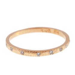 Anit Dodhia's Equinox Sparkling White Diamonds Ring   18k Yellow Gold and 0.09ct White Diamonds   Maya Collection
