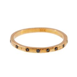 Anit Dodhia's Equinox Intriguing Black Diamonds Ring   18k Yellow Gold and 0.095ct Black Diamonds   Maya Collection