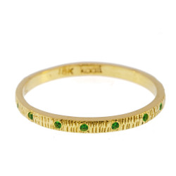 Anit Dodhia's Equinox Spring Green Ring | 18k Yellow Gold and 0.11ct Spring Green | Maya Collection