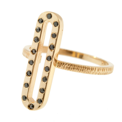 Anit Dodhia's Giocoso Black Diamonds Stackable Ring | 14k Yellow Gold and Black Diamonds | Caramia Collection