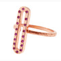 Anit Dodhia's Giocoso Pink Sapphires Stackable Ring   14k Rose Gold and Pink Sapphires   Caramia Collection