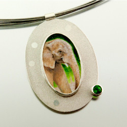 Carol Salisbury's African Elephant Pendant | Endangered Species Collection