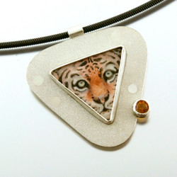 Carol Salisbury's Tiger Pendant from her Endangered Species collection