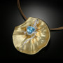 This is What I See in Your Eyes Pendant/Brooch from Aleksandra Vali | Blue Topaz