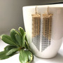 Keiko Mita's Shoreline Fringe Earrings | 14k Yellow Gold and Oxidized Sterling Silver
