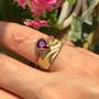 K.Mita's Royal Crown Ring on hand   Rhodolite Garnet