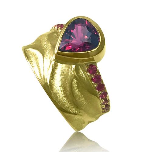 K.Mita's Royal Crown Ring   Rhodolite Garnet