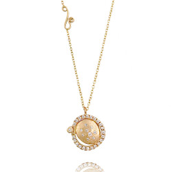 Huang Wang's Marigold Pendant Necklace | Yellow Gold | Diamonds