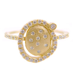 Huan Wang's Marigold Diamond Chip Ring | Yellow Gold | Diamonds
