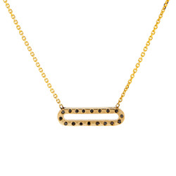 Pallina Black Diamond Necklace, 14K Yellow Gold by Anit Dodhia