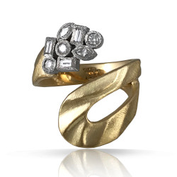 Marlene Ring by Keiko Mita | 18K Gold and Diamonds | Handmade Fine Jewelry
