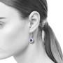 Silver Strands Earrings, Vitreous Enamel and Pearls, Enamel Art Jewelry by Sheila Beatty