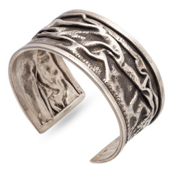 Crumbled Cuff from Morgan Amirani | Hand Forged Sterling Silver