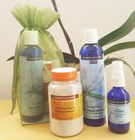 Elizabeth's regimen for flawless and ageless skin!  Contains:  6oz Amazing Grains, 2oz Neroli Hydrosol, 8oz Lavender Aloe AromaLotion ™