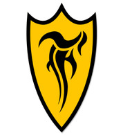 F-Shield Sticker (Black/Yellow)