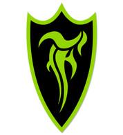 F-Shield Sticker (Green/Black)