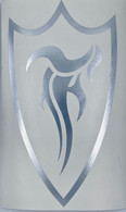 f shield die cut silver 12""