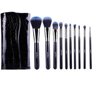 10 Pc Midnight Blue Brush Set