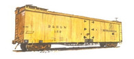 On3 D&RGW 40' Reefer Kit Road Numbers 150-161