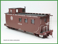On30 D&RGW Peak Roof Long Caboose Kit Single Window Cupola