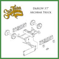 "On30 D&RGW 3'7"" Archbar Truck Kit Black"