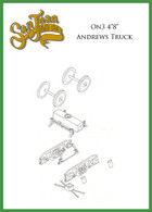 """On3 D&RGW 4'8"""" Andrew Truck Kit Brown"""