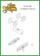 """On30 D&RGW 4' 8"""" Andrews Truck Kit Black"""