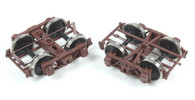 "On30 RTR D&RGW 3'7"" Archbar Truck - Brown"