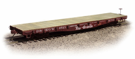 On30 D&RGW 6500 Series 40' Flat Car made from Kit #127-30