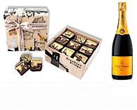 NYC Chocolate Caramels (9pc)w/Veuve Clicquot