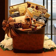 Two Tone Faux Leather Basket