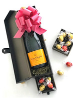 Veuve Clicquot Leather Box w/Chocolates