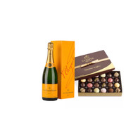 Veuve Clicquot w/Godiva 1lb Dark Chocolate Box