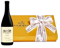 Happy Birthday Godiva Chocolates w/Wine
