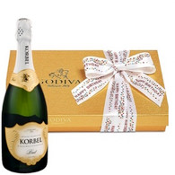 Birthday Godiva Chocolates W Champagne