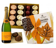 Autumn Chocolates w/Veuve Clicquot Champagne